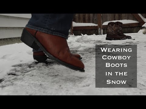 Wearing Cowboy Boots in the Snow