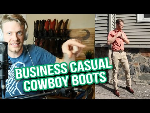 Can Cowboy Boots Be Business Casual?