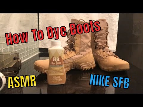 How To Dye Boots