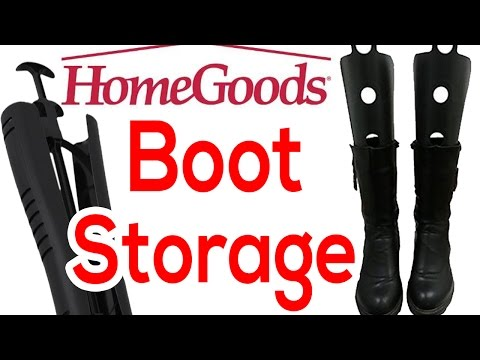Home Goods Haul: Boot Shapers and Storage