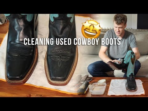 Cleaning and Conditioning Used Cowboy Boots