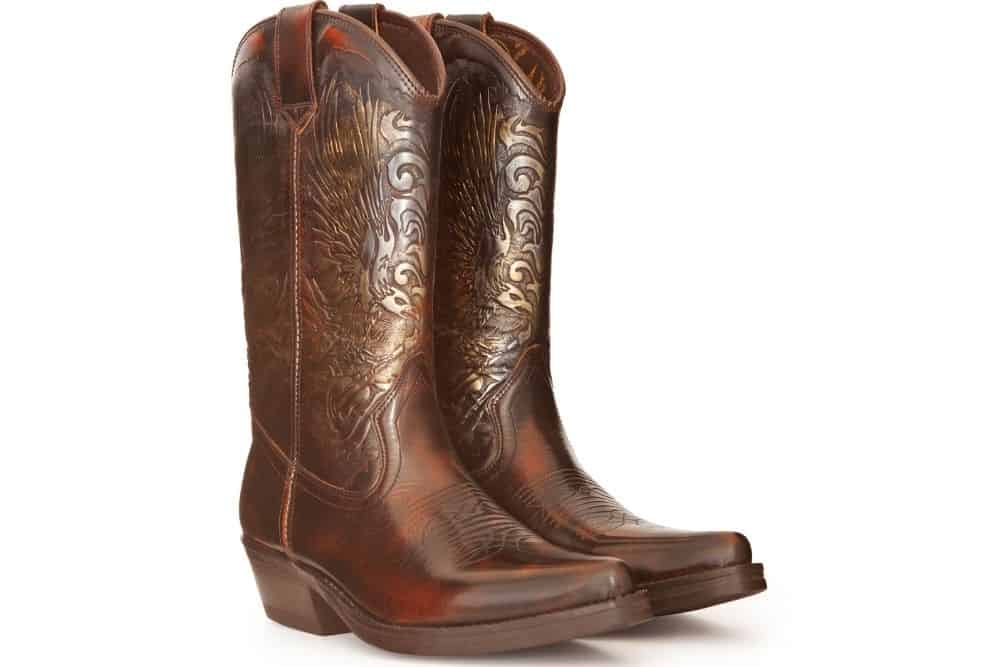 how to polish cowboy boot with stitching