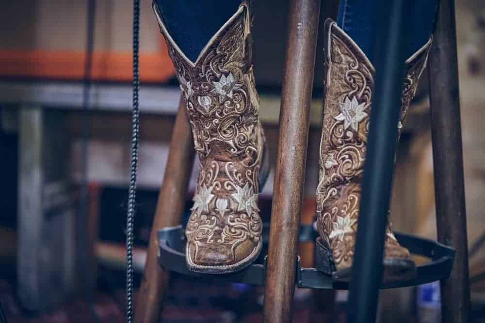 cowboy boots with flowers on them