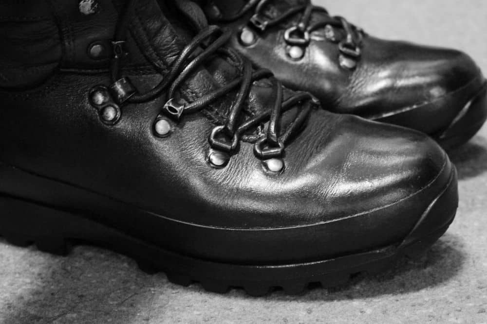 Which types of tactical boots can we polish? The shining look comes from the gloss of leather. Therefore, the best material to polish, of course, is leather. The most flexed areas are in the toe and the heel, but you should polish all the boots so that they can have an even gloss. On the contrary, don't ever think of polishing suede tactical boots since their natural and special feature is the nap. That is crazy to polish suede since you only destroy them by doing that. Alternatively, the best way to protect your suede tactical boots is using a suede protector and spray on suede boots to make them water-repellent or waterproof.
