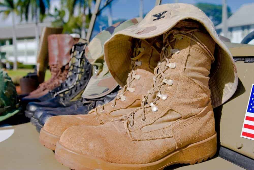 Merrell tactical boots with many different colors