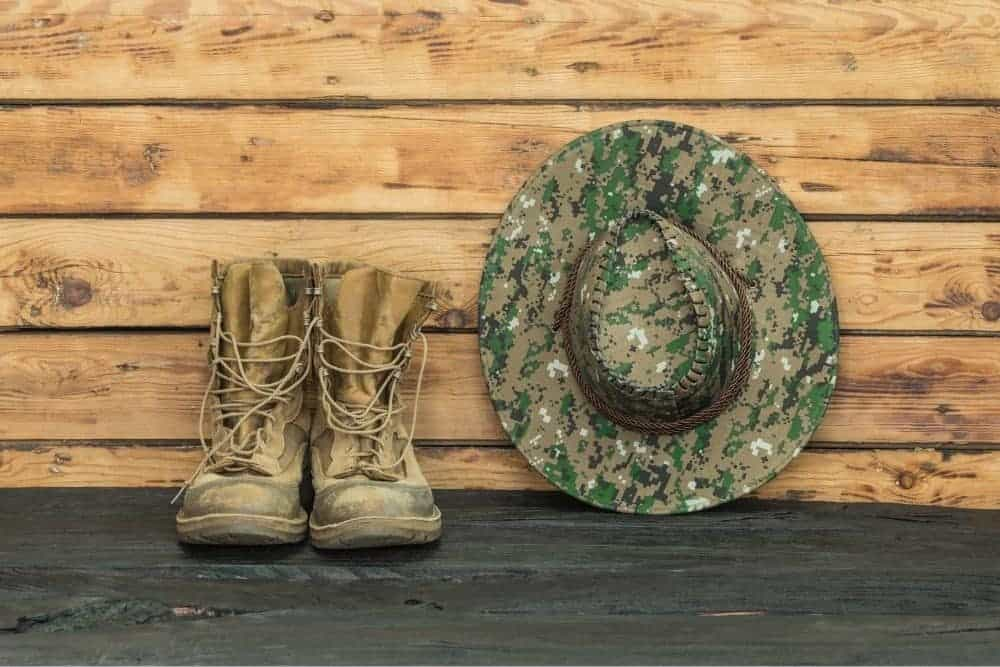 Tactical boots and hat