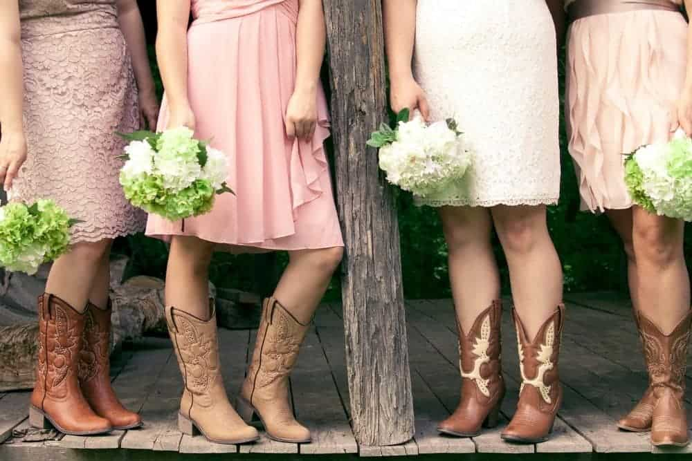 dresses match with cowboy boots