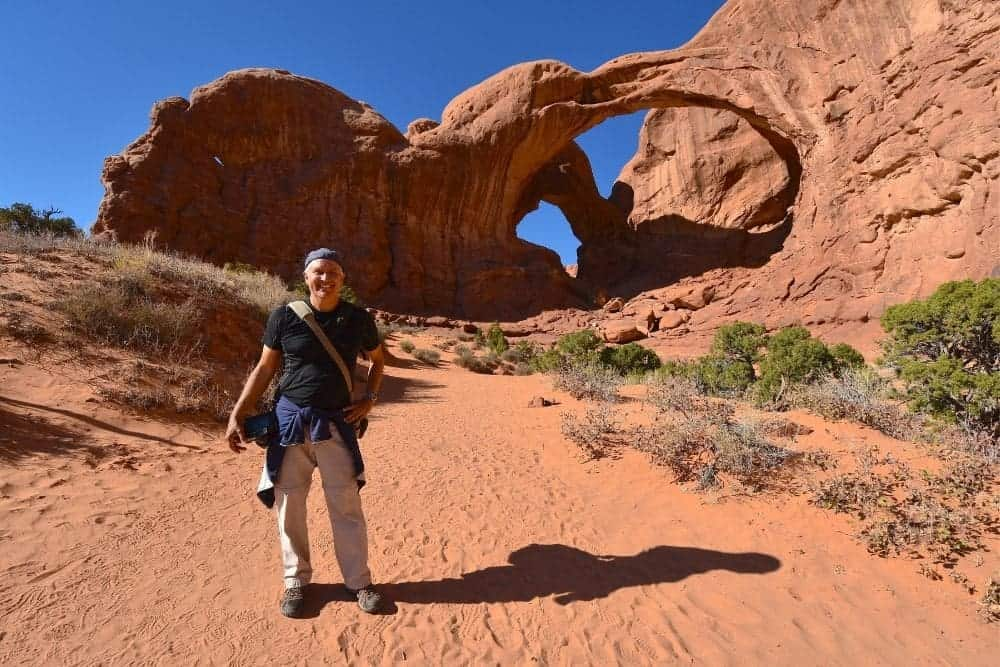 Hiking at Arches National Park Trail
