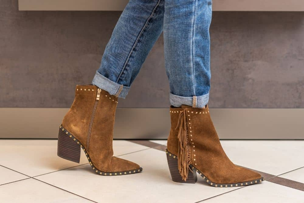 ankle cowboy boots for skinny legs