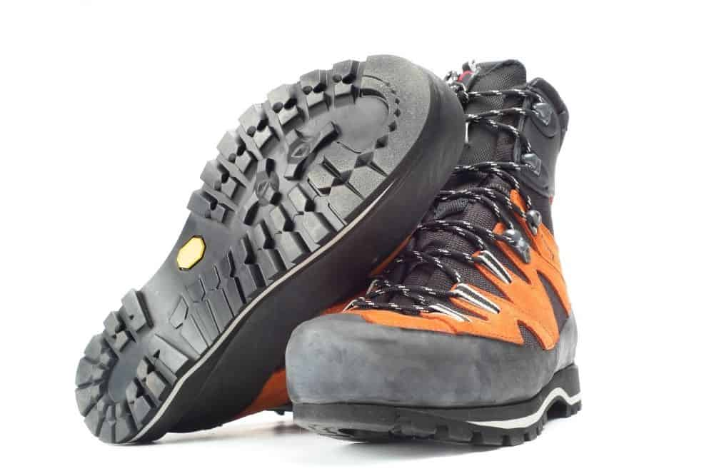 round outsole of slip resistant hiking boots