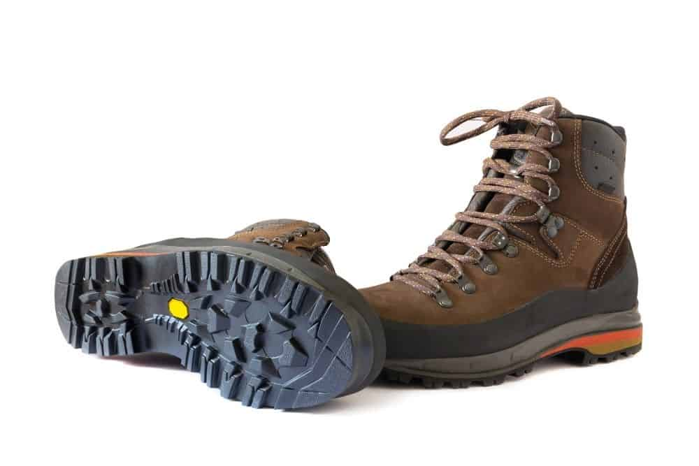 rubber outsole of slip resistant hiking boots