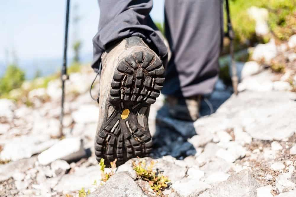 thick outsoles of hiking boots