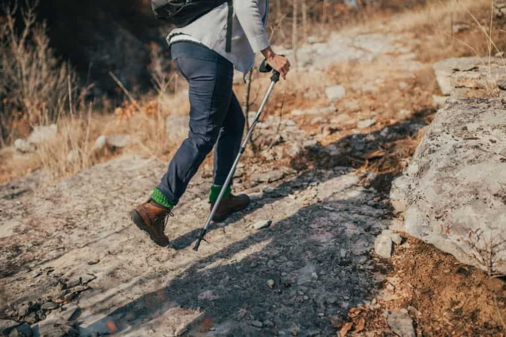 Uncomfortable walking strides due to loose hiking boots