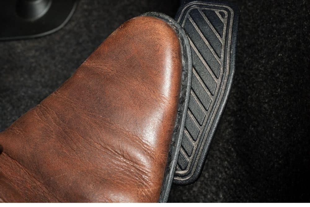boots press the pedal