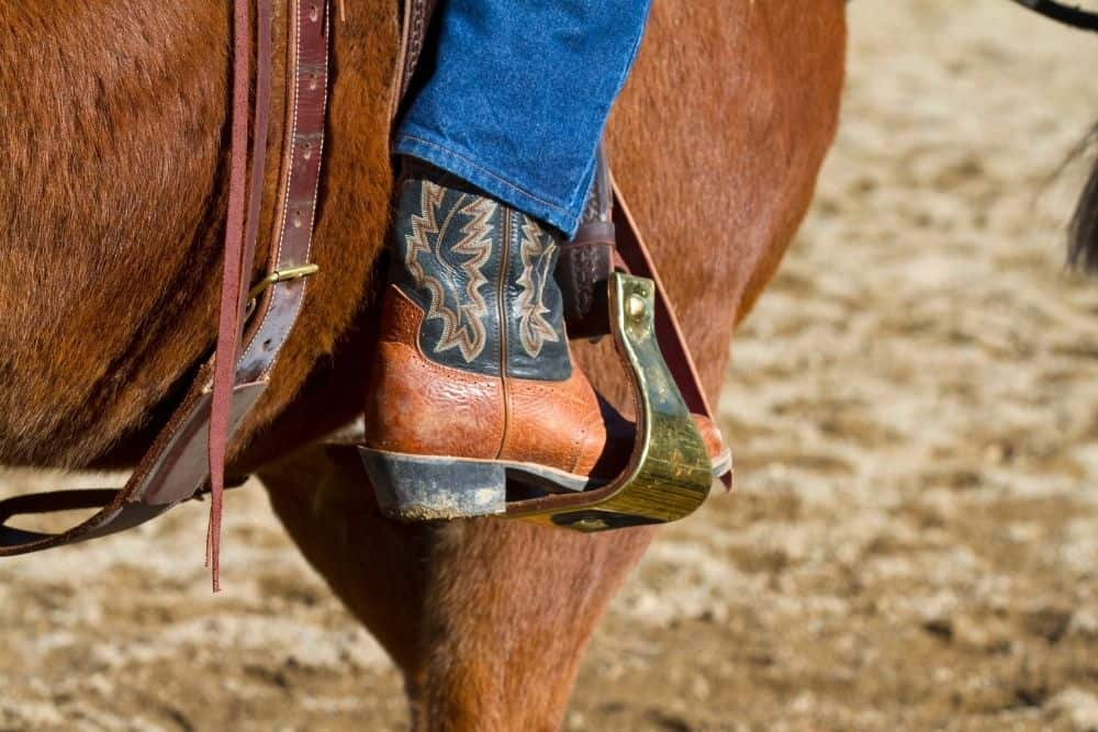 cowboy boots used for riding horses