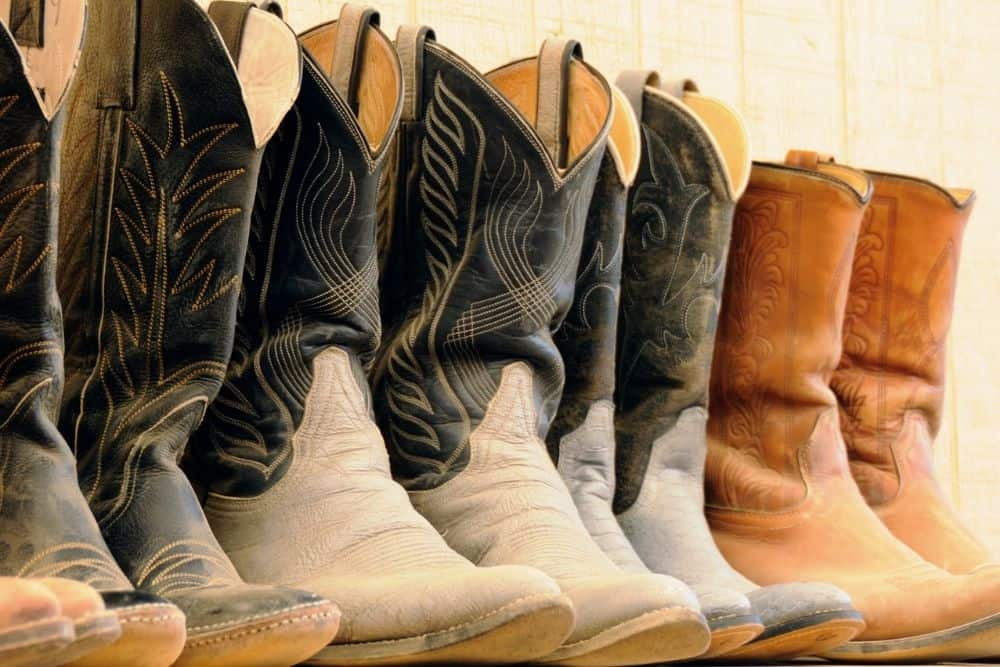 cowboy boots with distressed leather