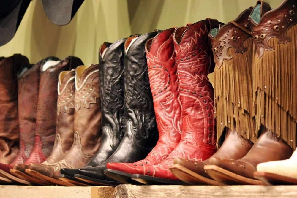 cowboy boots with tall shafts