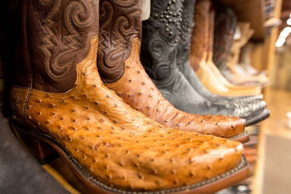 cowboy boots with traditional pointed narrow toes upwards