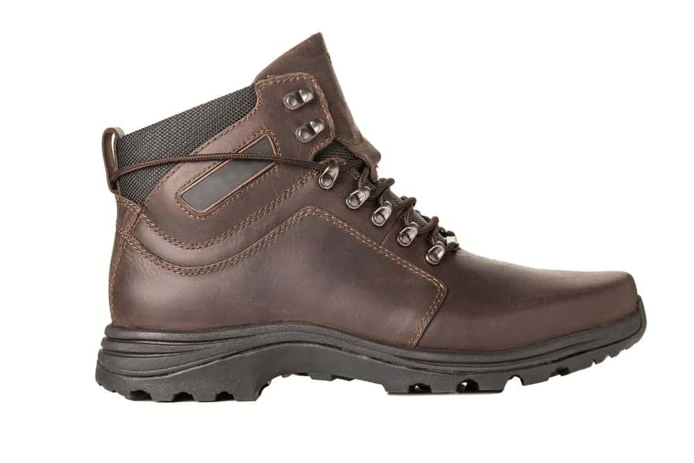 faux leather hiking boots