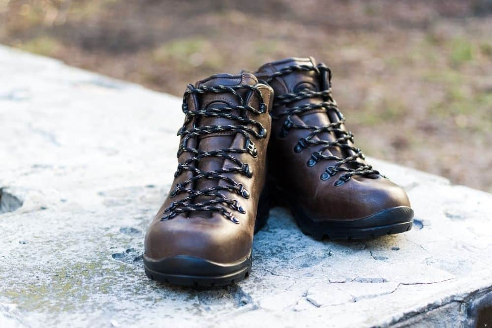 full grain leather hiking boots