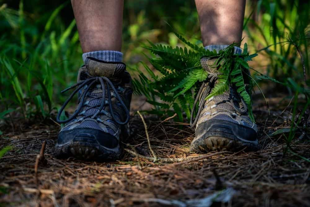 hiking boots are dyed to extend lifespan