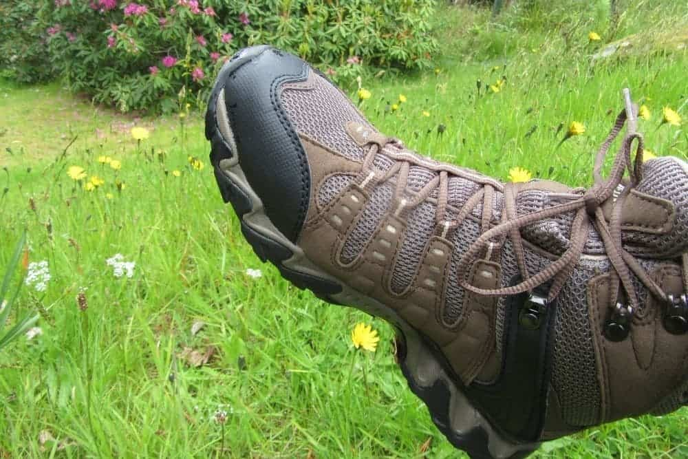 hiking boots fit snugly with adequate toe room