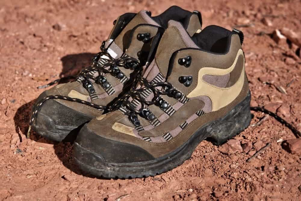 hiking boots on muddy surfaces