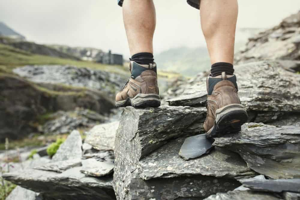 hiking boots with good traction on rocky terrain