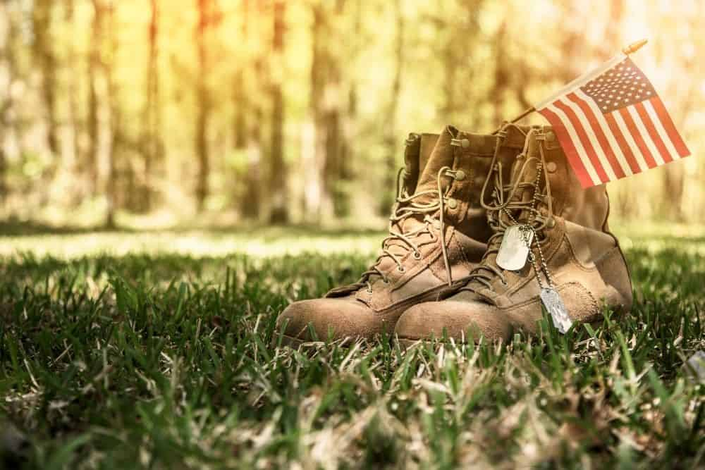 made in usa tactical boots with American flag