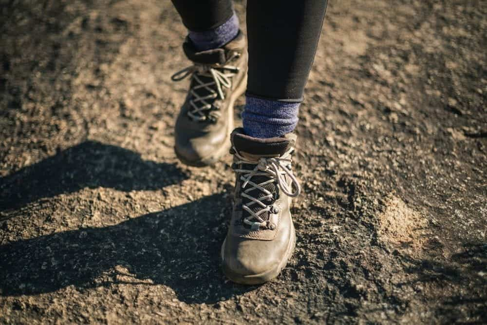 men wearing thick socks with hiking boots