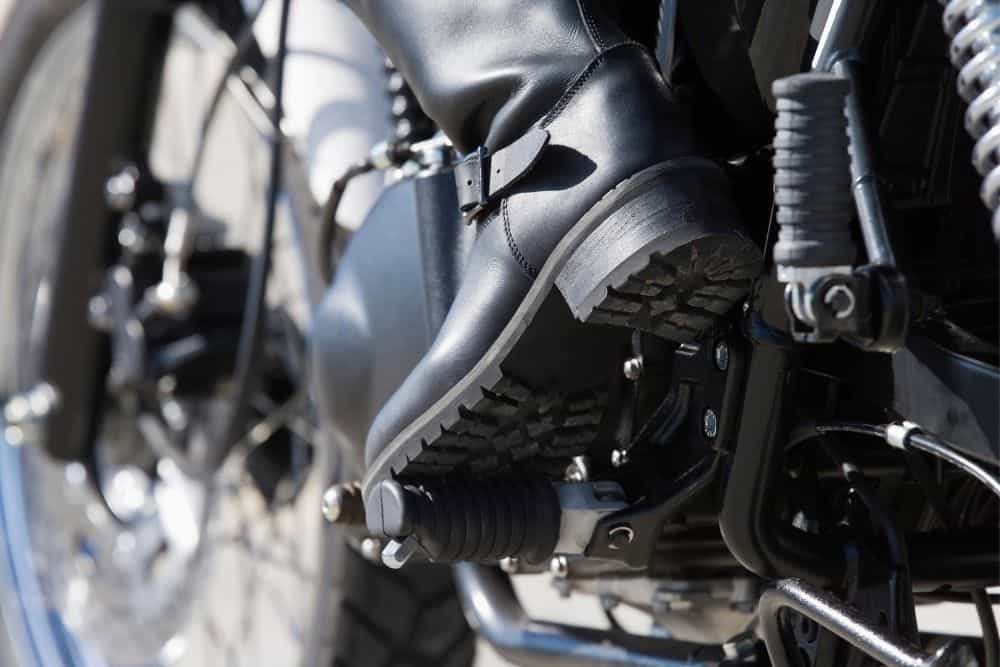motorcycle boots have thick material