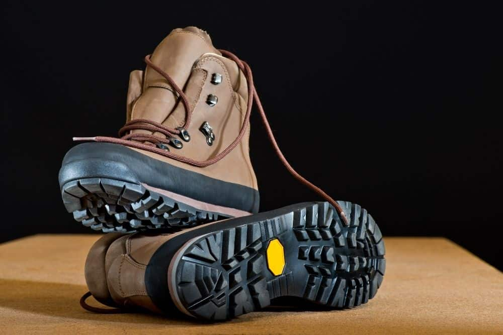 rigid outsoles of steel toe hiking boots