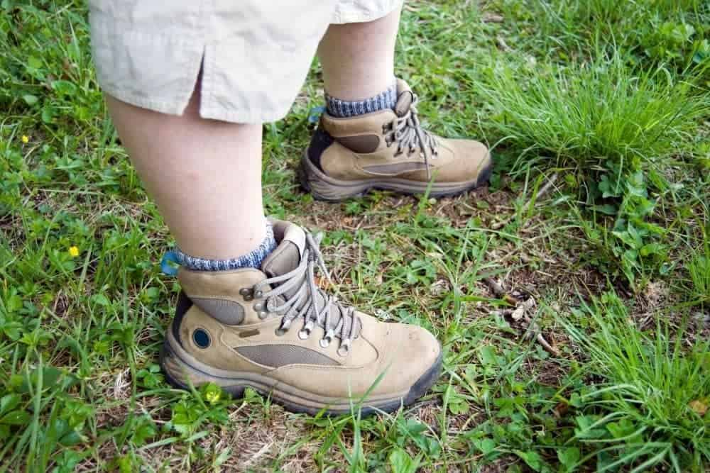 socks with low top hiking boots