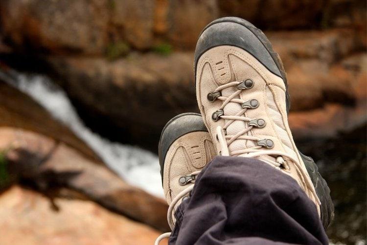 stiff hiking boot upper