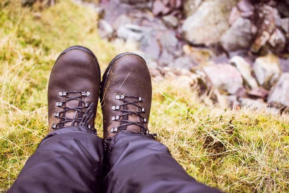 too tight brown leather hiking boots