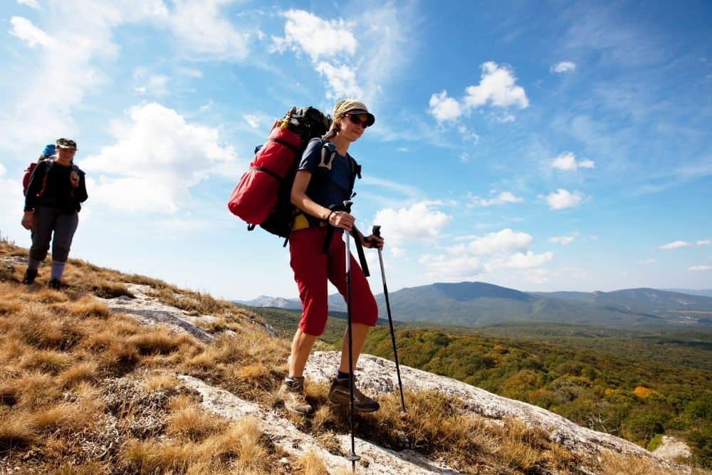 two women wear hiking boots for long distance hikes