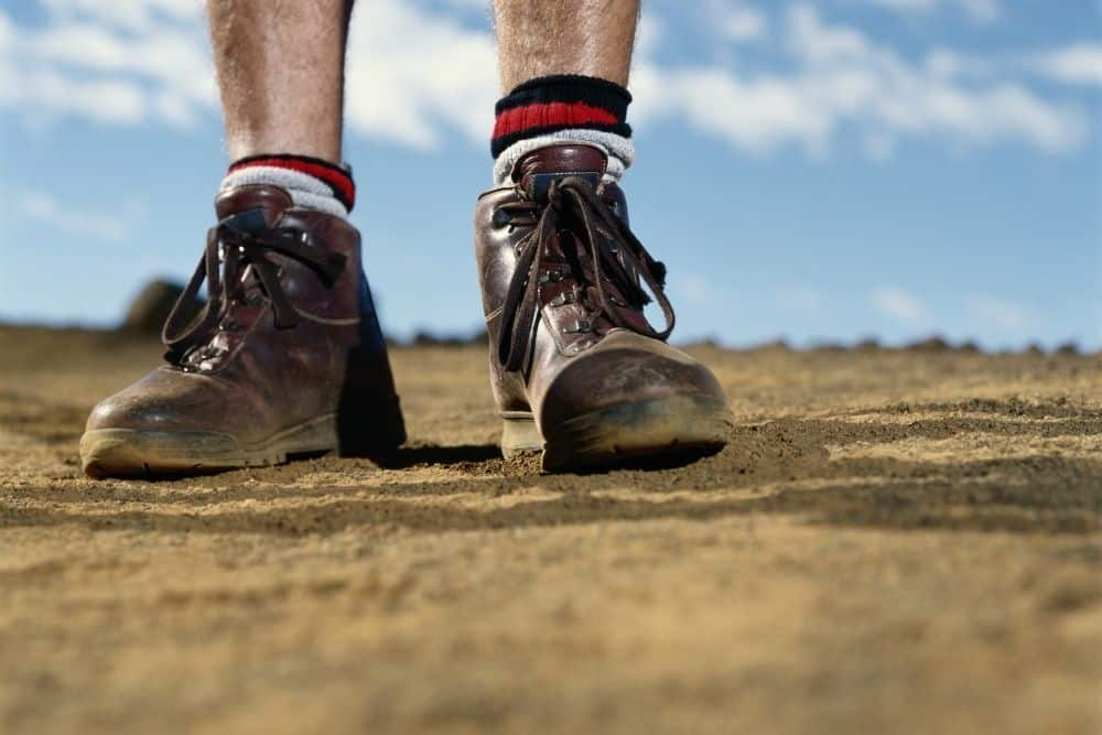 unbreathable stiff hiking boots on hot days