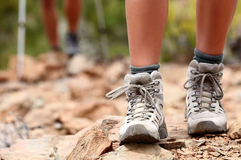 walk in hiking boots for better fit at toe box