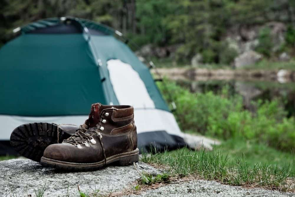 hiking boots for camping