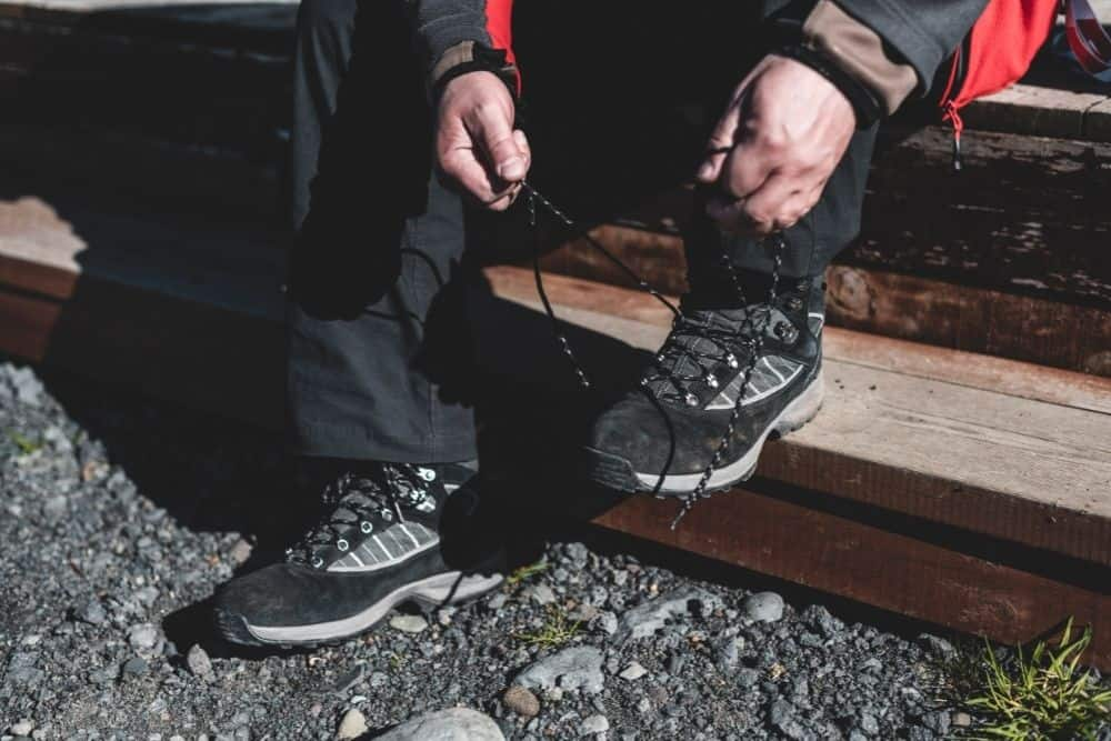 lace hiking boots to prevent heel lift