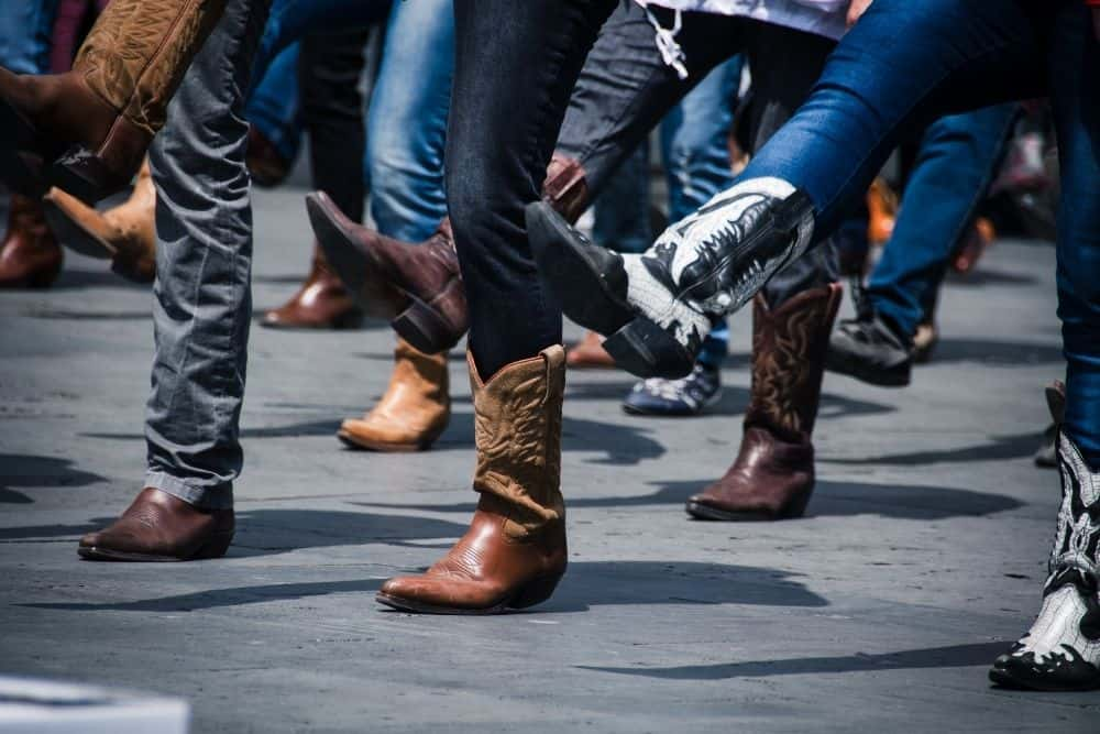 many people wear cowboy boots for dancing